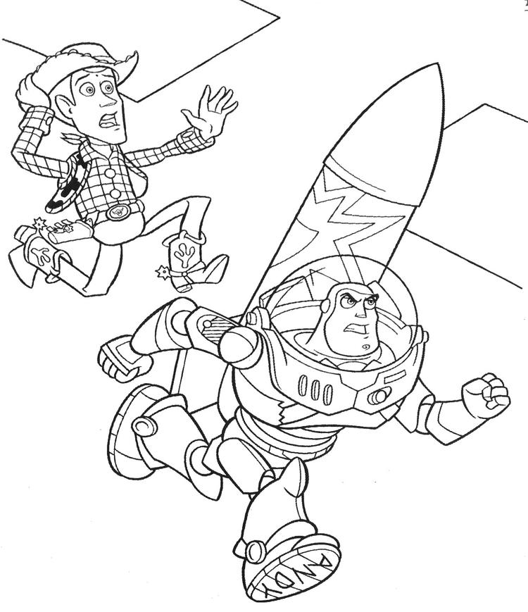 Buzz Lightyear Coloring Pages Missile Launch