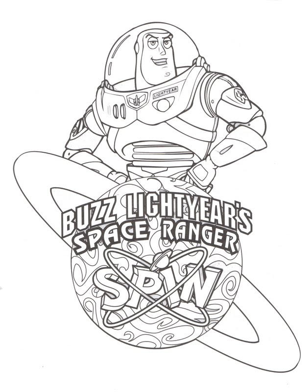 Buzz Lightyear Coloring Pages Space Ranger