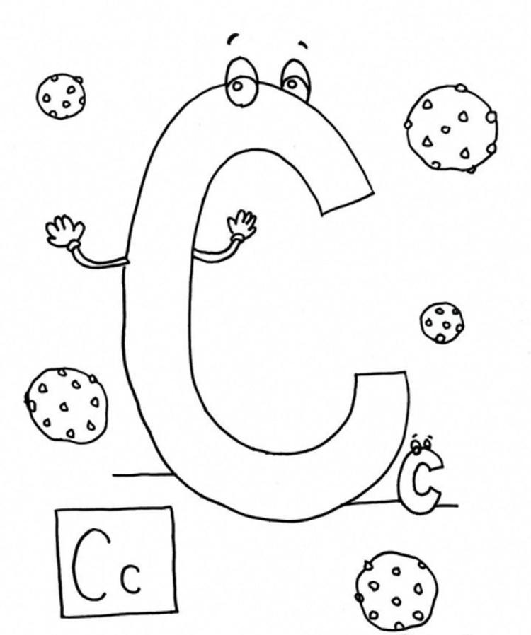 C Is For Cookies Coloring Pages Alphabet