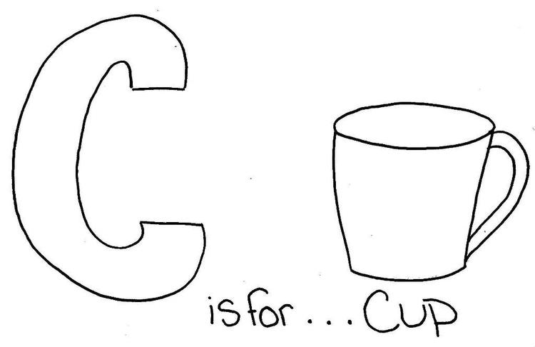 C Is For Cup Coloring Pages Alphabet