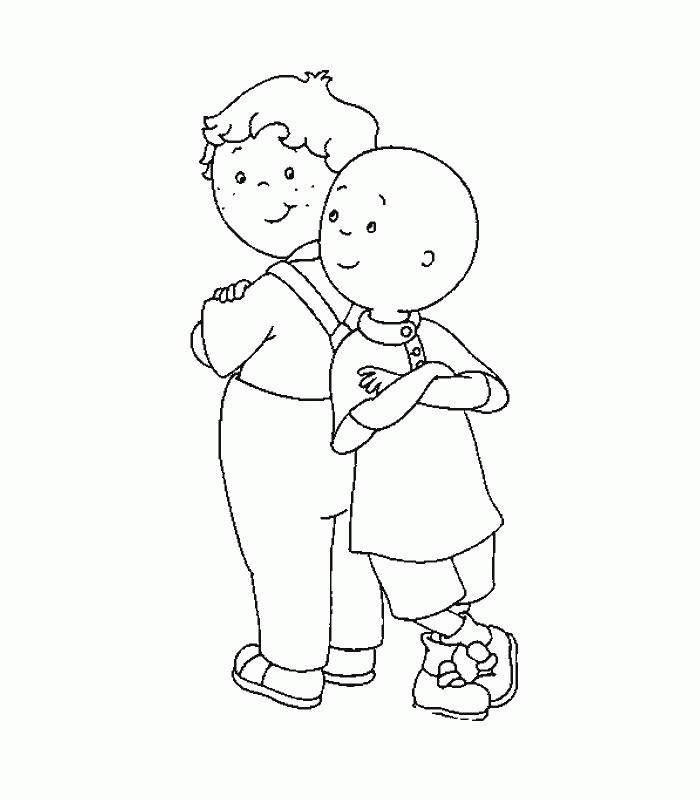 Caillou Coloring Pages Caillou And Leo