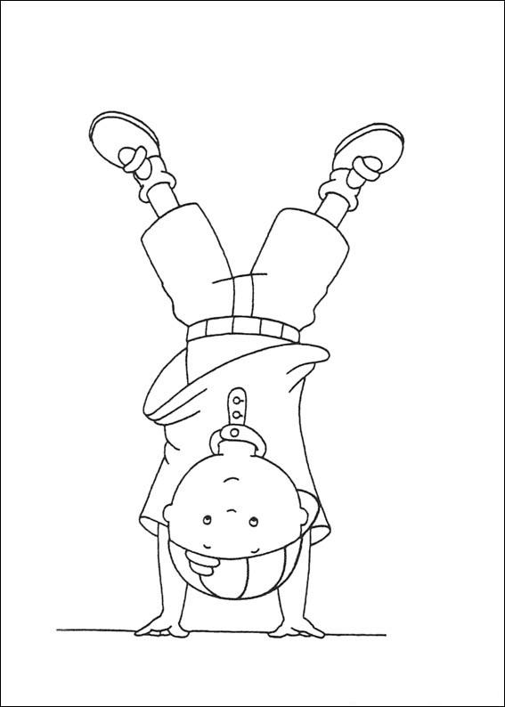 Caillou Coloring Pages For Kids