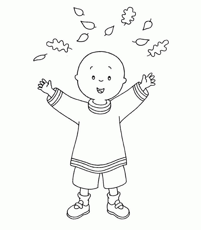 Caillou Coloring Pages In Autumn