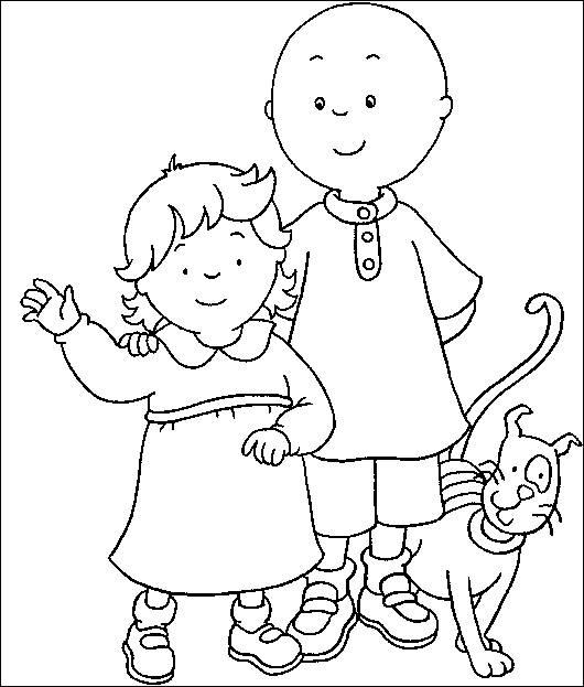 Caillou Coloring Pages Rosie Caillou Gilbert
