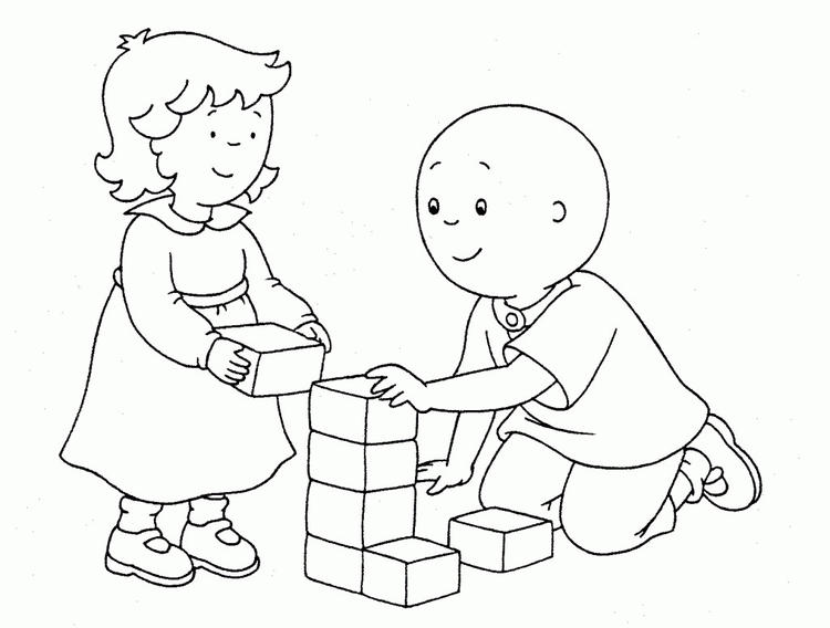 Caillou Coloring Pages With Rosie