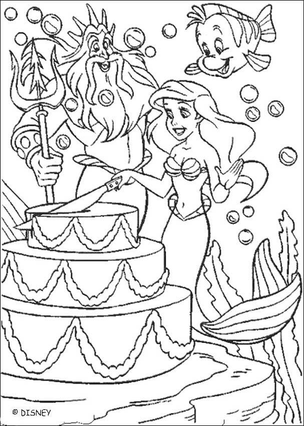 Cake All Disney Princess Coloring Pages