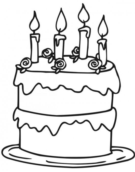 Cake Coloring Pages For Preschool