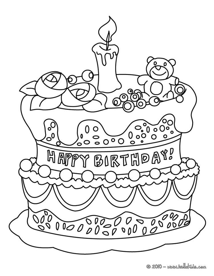 Cake Coloring Pages To Print
