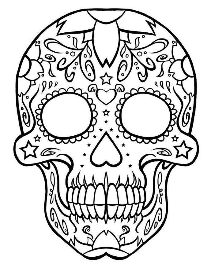 Calavera Day Of The Death Coloring Online