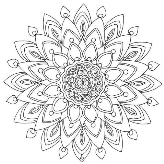 Calm Flower Coloring Pages