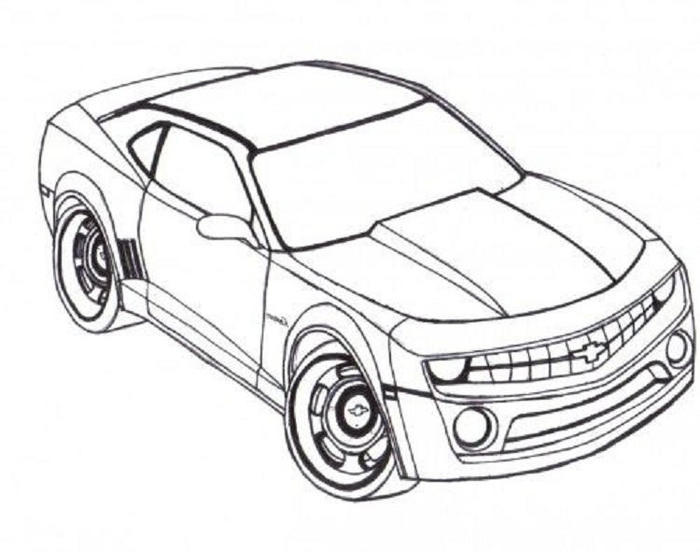 Camaro Race Cars Coloring Pages