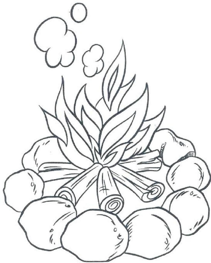 Camping Campfire Coloring Pages