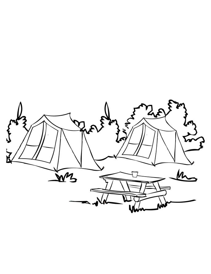 Camping Coloring Pages Campground