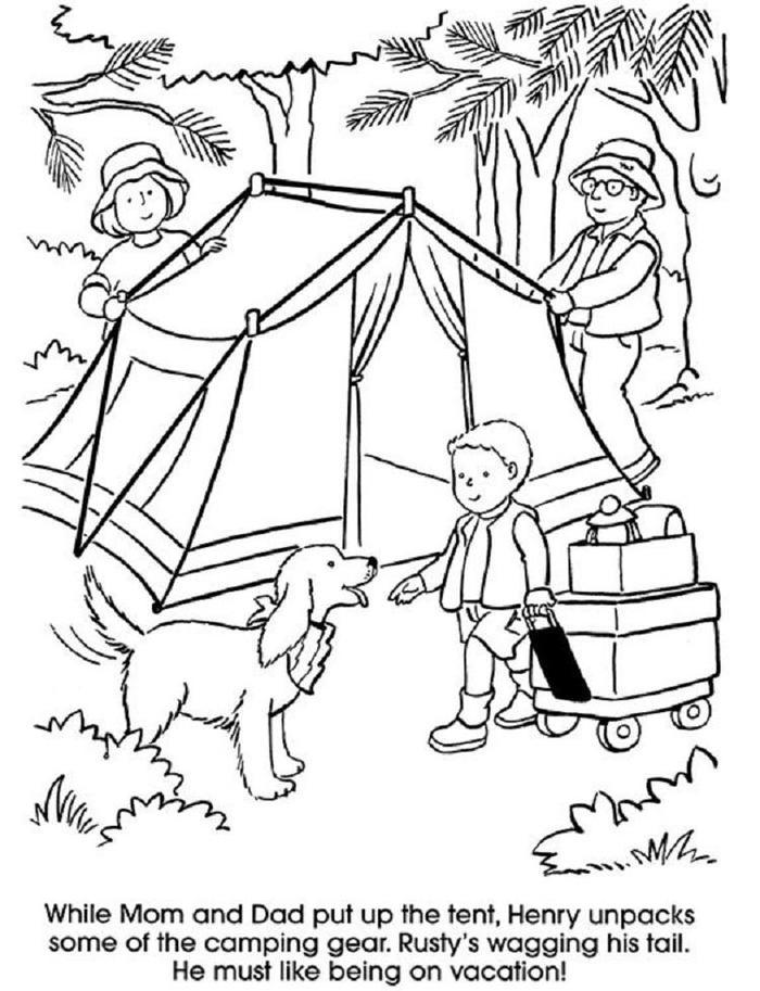 Camping Coloring Pages For Adults
