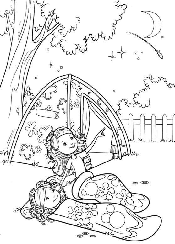 Camping Coloring Pages For Girls