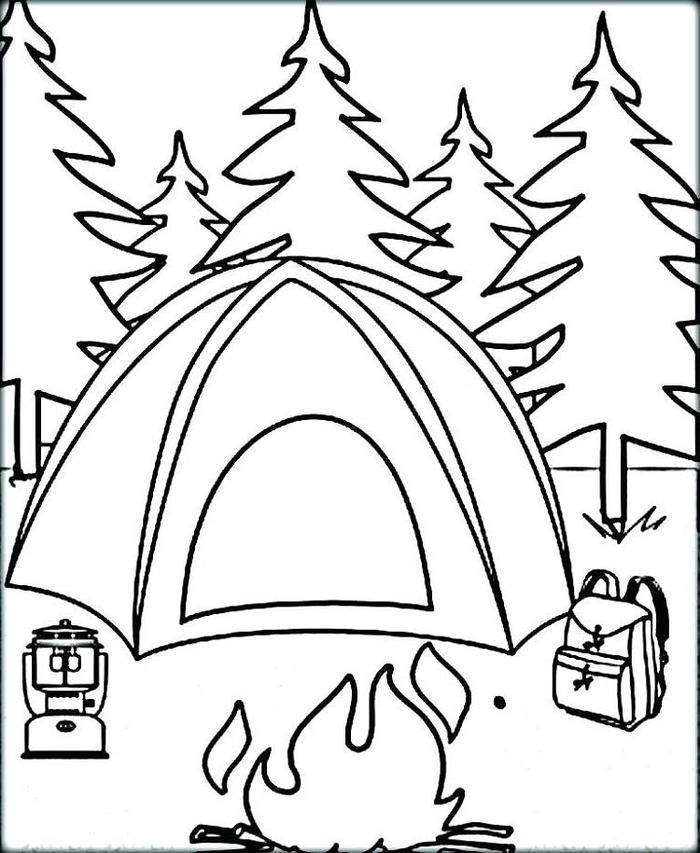 Camping Coloring Pages Pdf