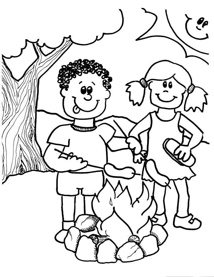 Camping Coloring Pages Printable For Kids