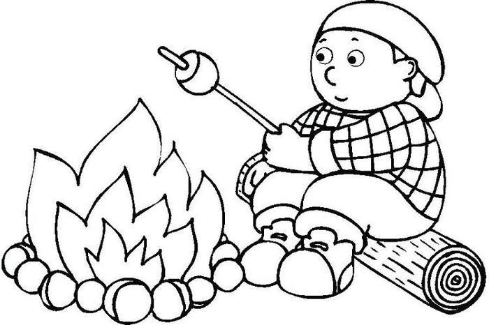 Camping Printable Coloring Pages