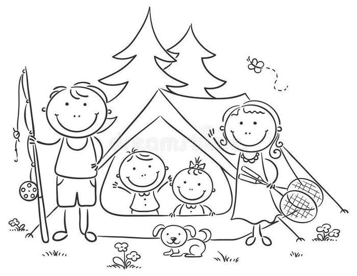 Camping Theme Coloring Pages