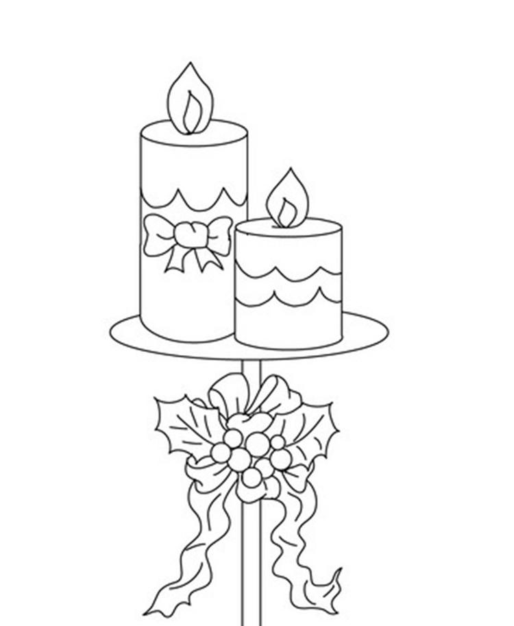 Candle Free Coloring Pages For Christmas