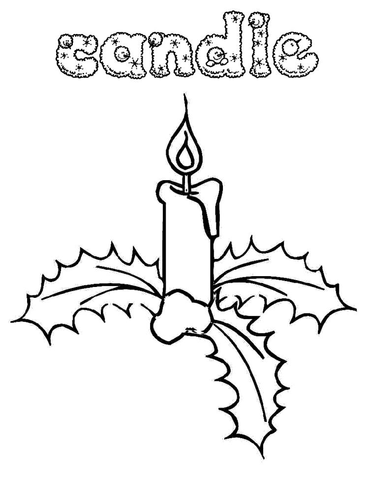 Candle Printable Free Coloring Pages For Christmas