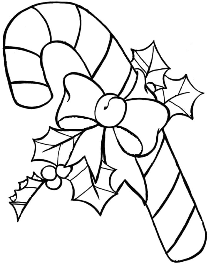Candy Cane Christmas Coloring Pages