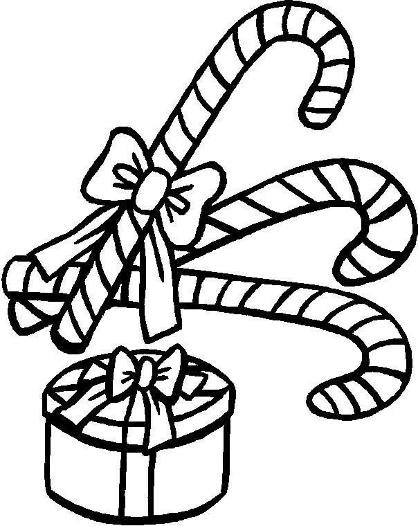 Candy Cane Coloring Pages And Christmas Gift