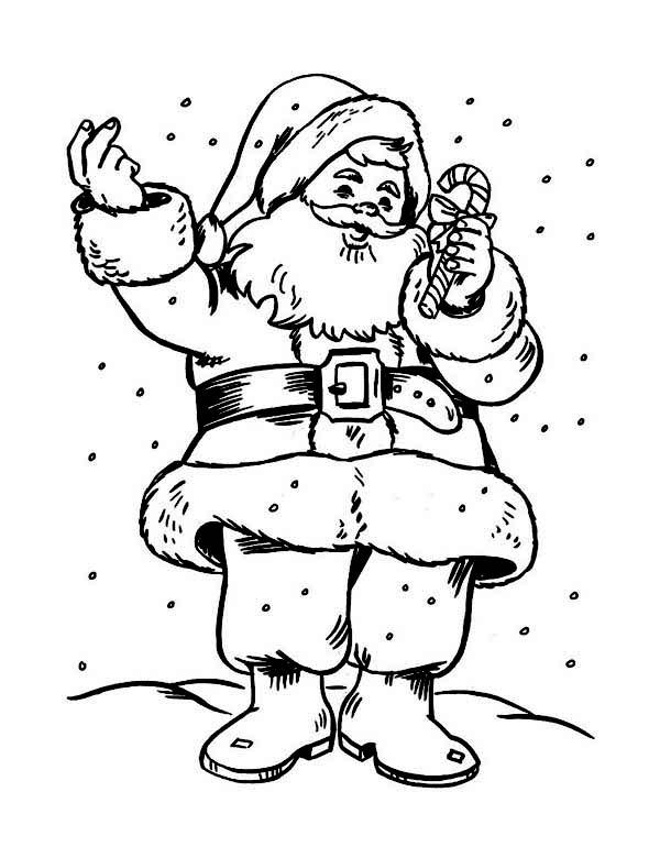 Candy Cane Coloring Pages And Santa Claus
