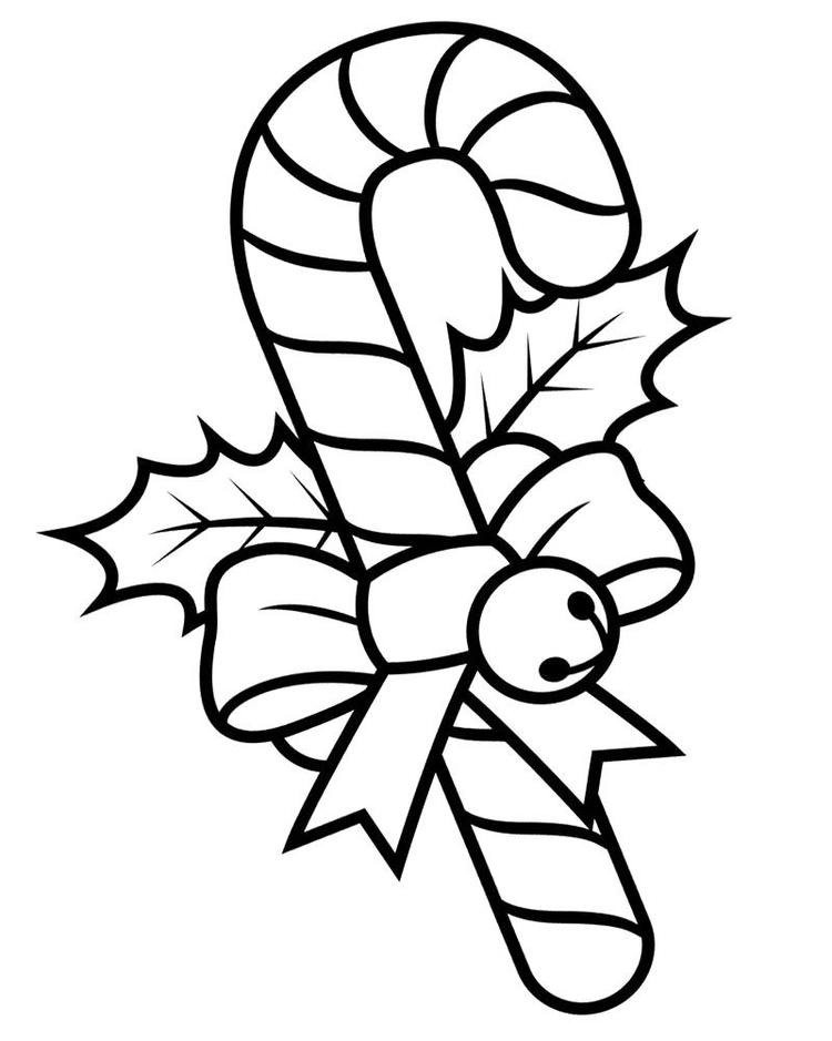 Candy Cane Coloring Pages Christmas
