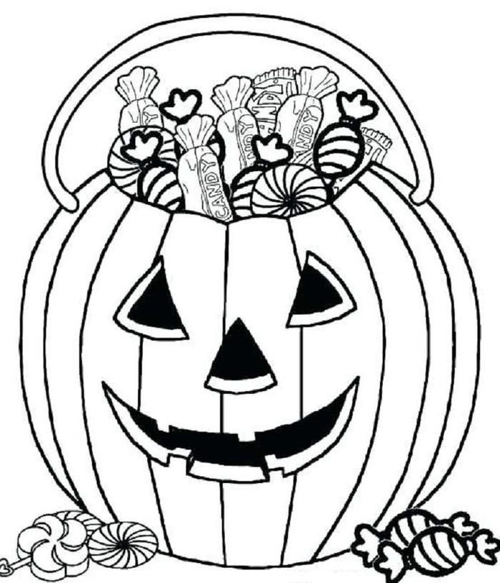 Candy Coloring Pages For Halloween