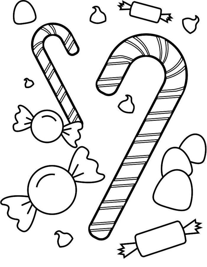 Candy Coloring Pages Free Printables