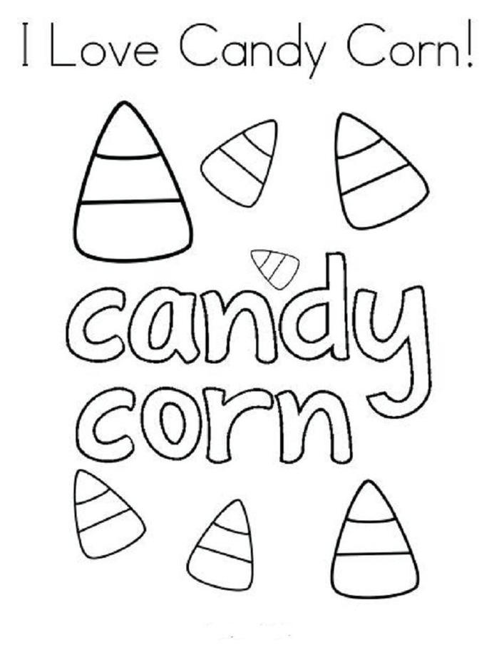 Candy Corn Coloring Pages