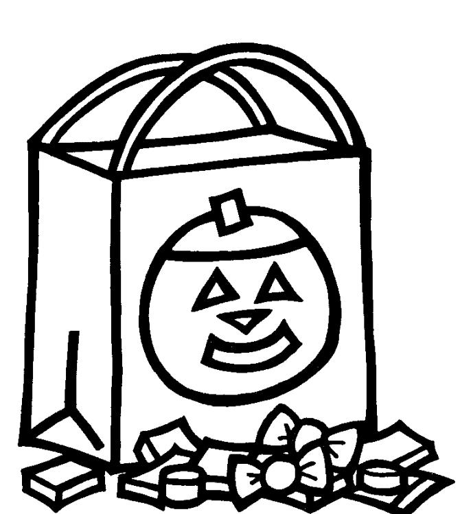 Candy Halloween Preschool Coloring Pages Printable Free