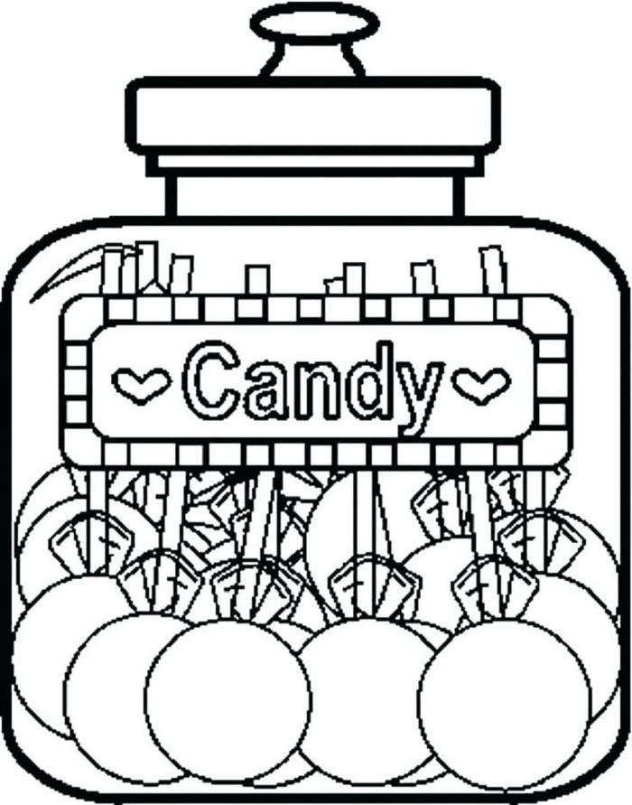 Candy In Jar Coloring Pages