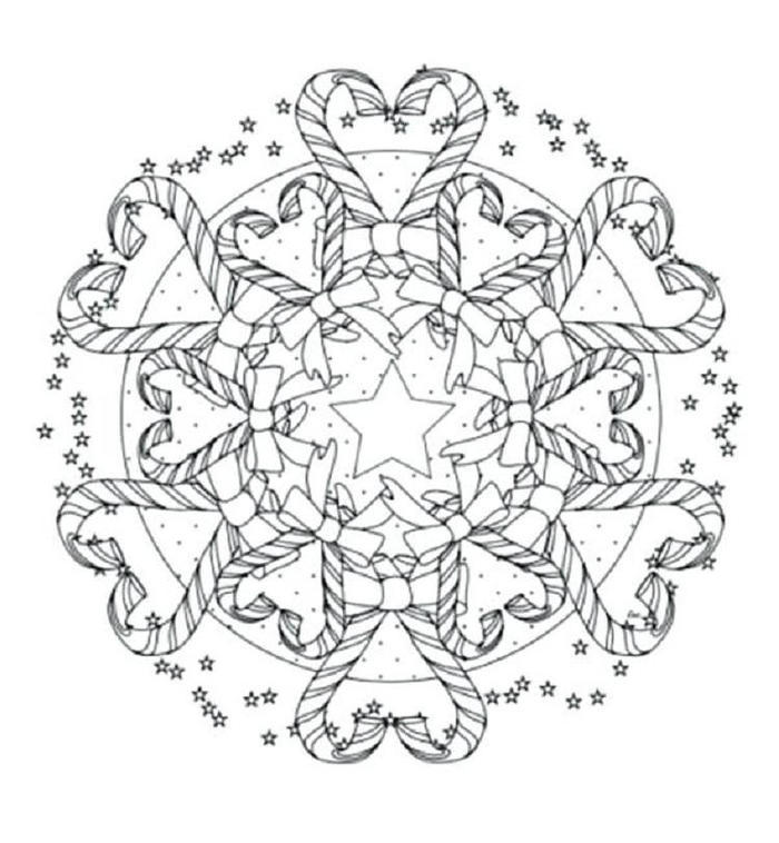 Candy Mandala Coloring Pages