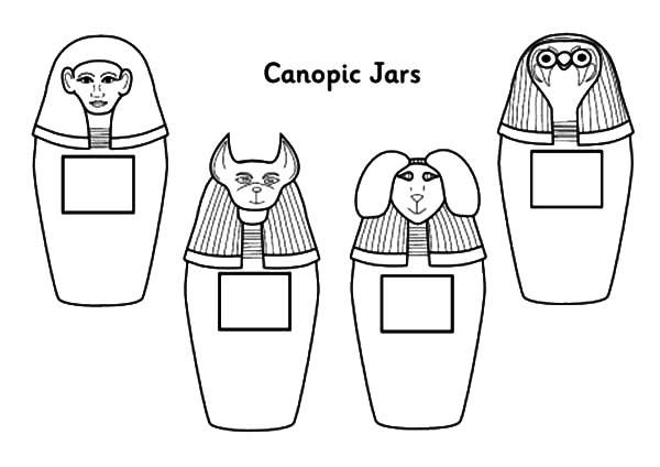 Canopic Jar Coloring Pages