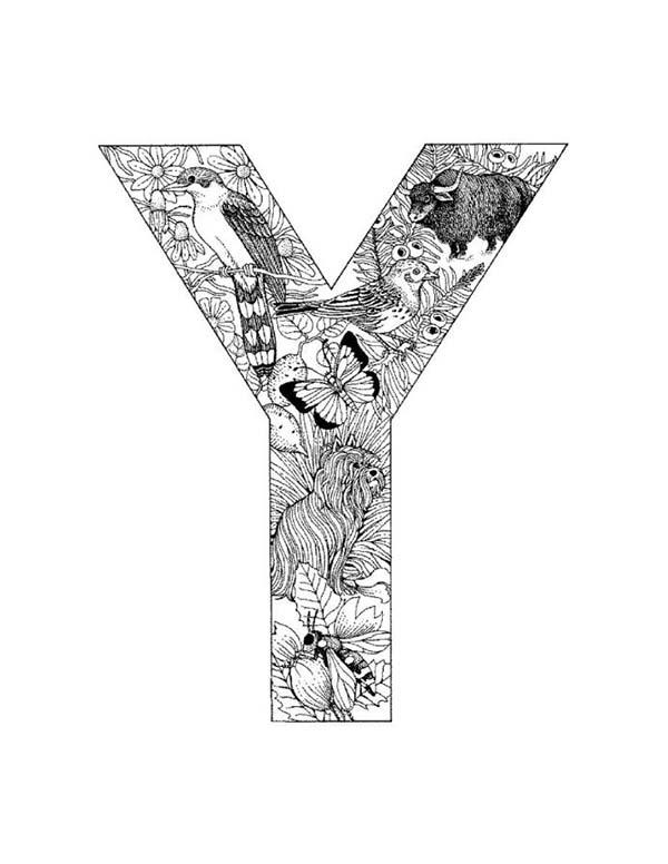Capital Letter Y Coloring Page