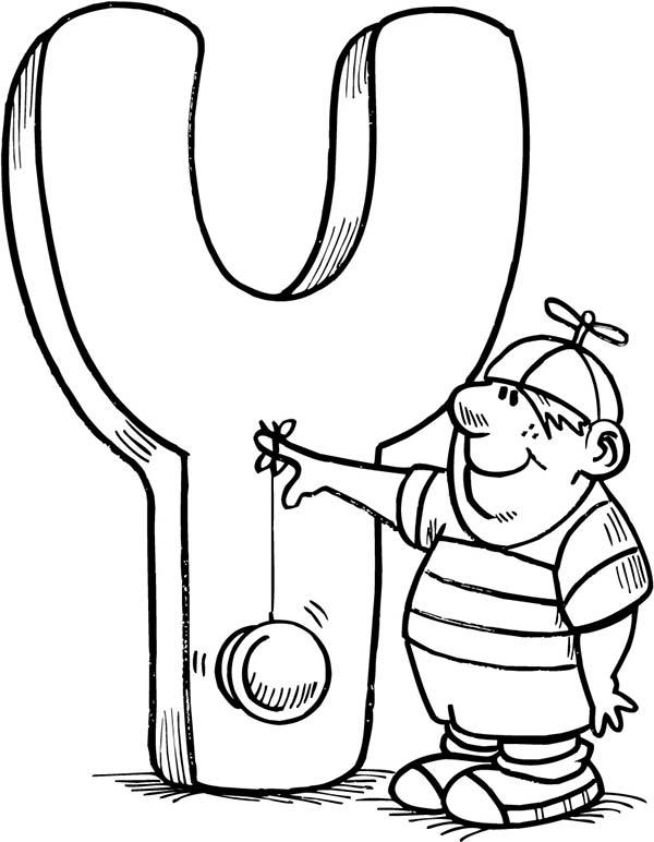 Capital Letter Y For Kids Coloring Page