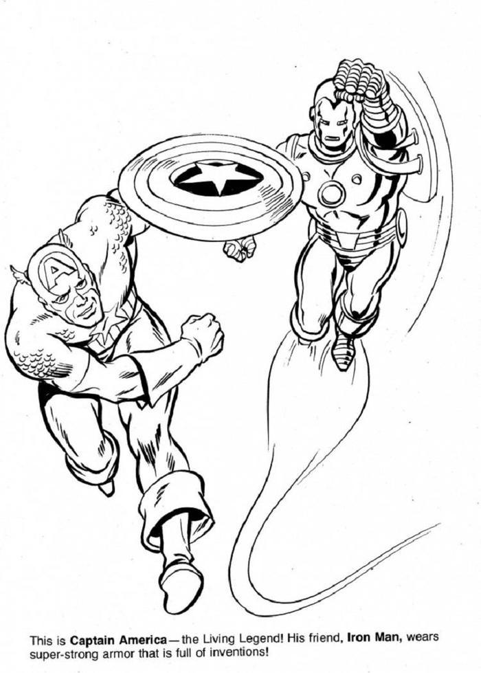 Captain America And Iron Man Coloring Pages
