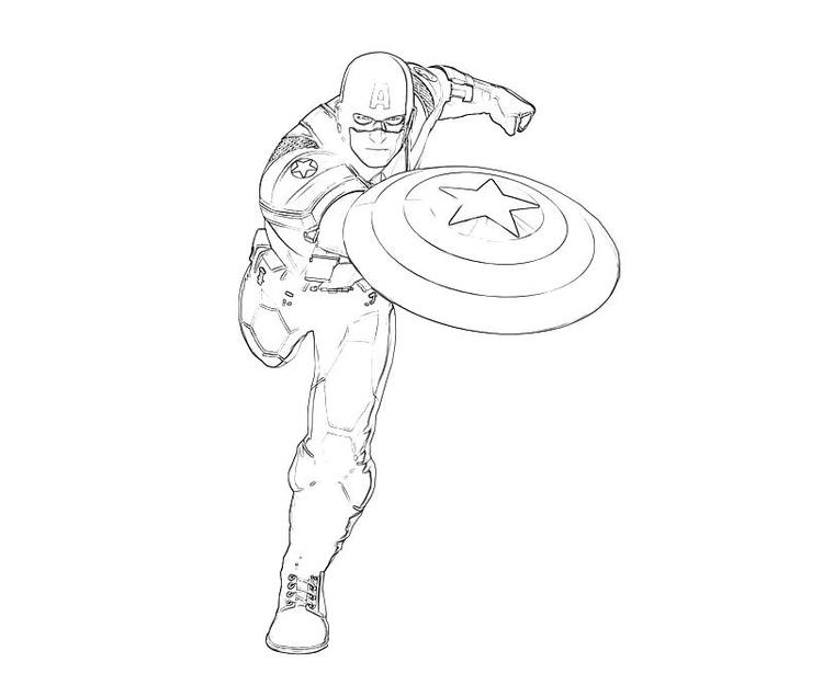 Captain America Coloring Pages Attacking
