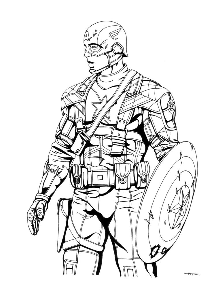 Captain America Coloring Pages Civil War Movie