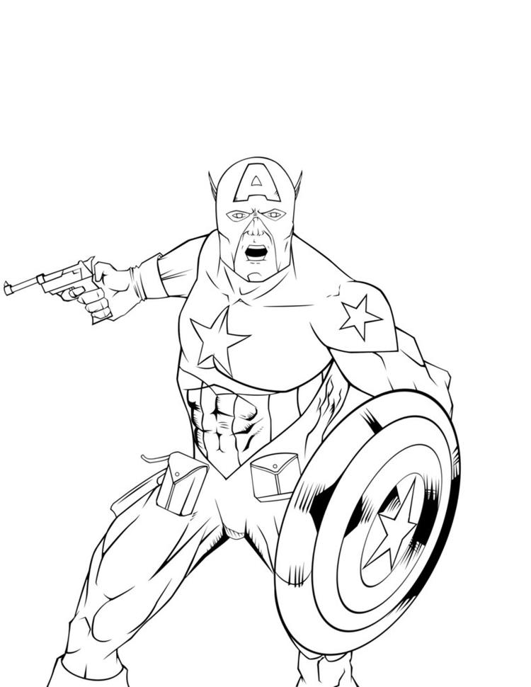 Captain America Coloring Pages For Boys