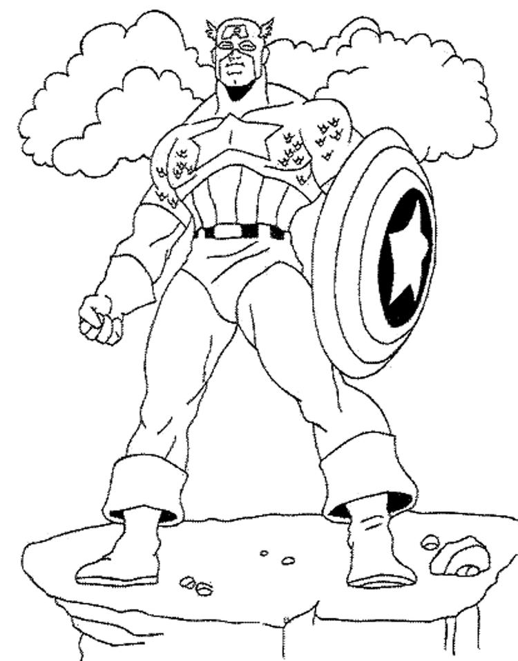 Captain America Coloring Pages For Kids