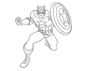 Captain america coloring pages for kids free