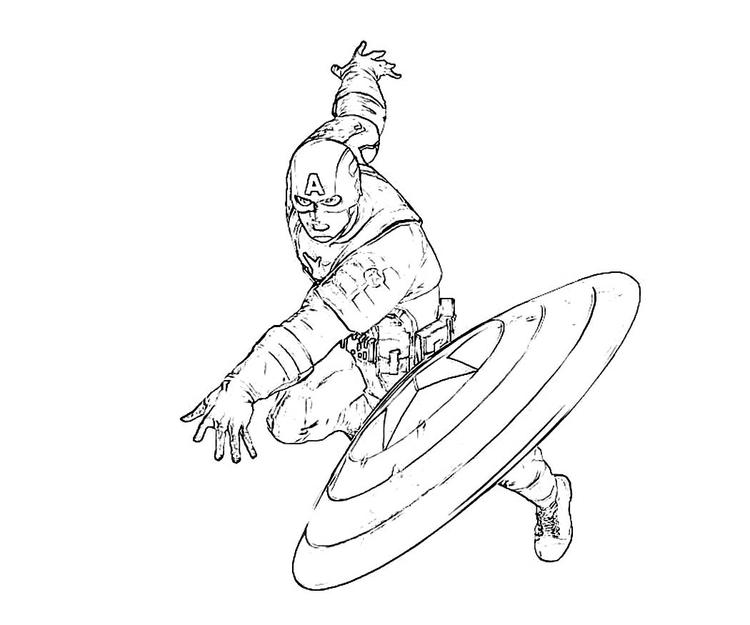 Captain America Coloring Pages In Action