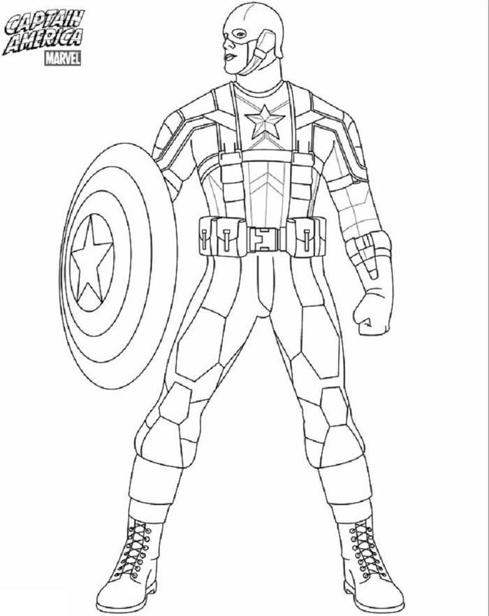 Captain America Coloring Pages Marvels