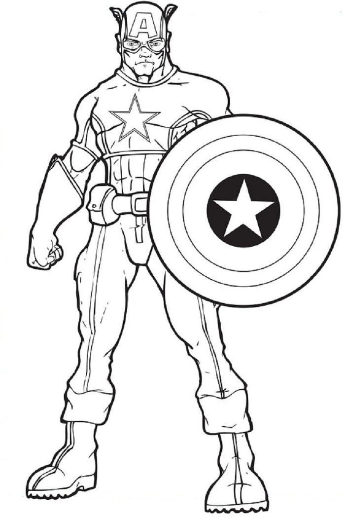 Captain America Coloring Pages Printable