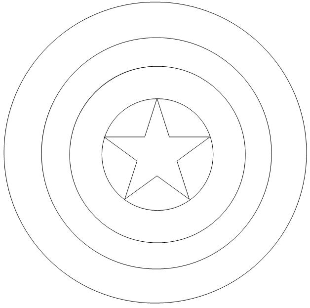 Captain America Coloring Pages Shield