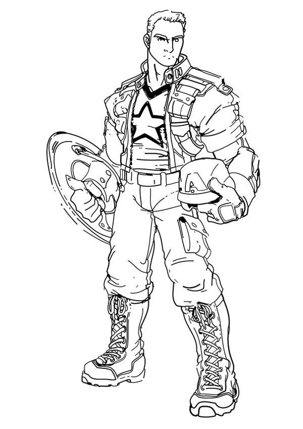 Captain America Coloring Pages Steve Rogers