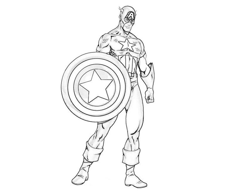 Captain America Coloring Pages Super Hero